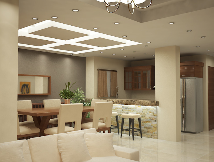 modern  by Raqy Designers & contractors, Modern Solid Wood Multicolored