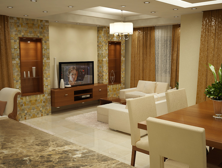 modern  by Raqy Designers & contractors, Modern Textile Amber/Gold