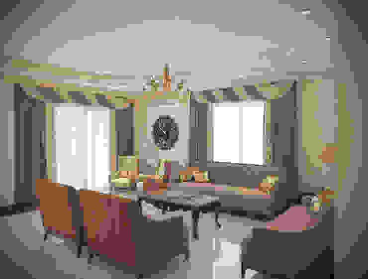شقه بالتجمع الخامس تصميم وتشطيب: حديث  تنفيذ Raqy Designers & contractors, حداثي