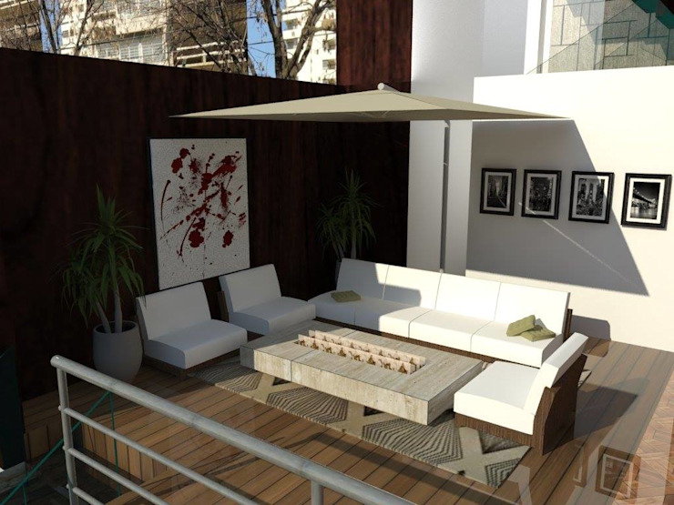 Modern Terrace by ROQA.7 ARQUITECTURA Y PAISAJE Modern