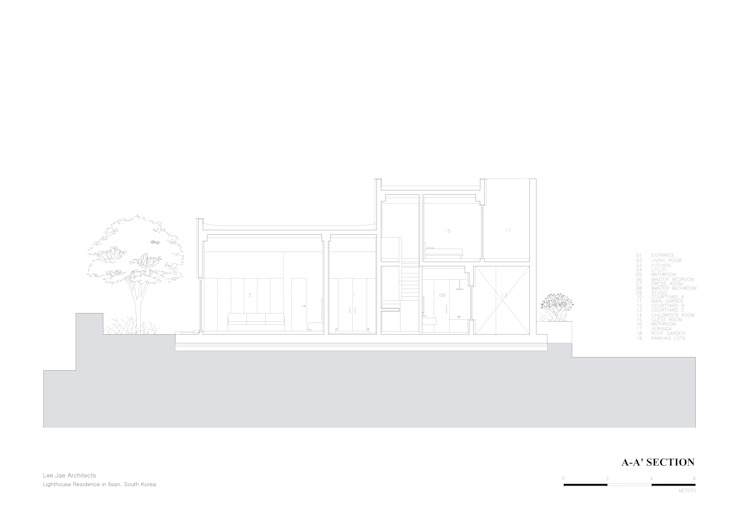 Lighthouse Residence: Lee Jae Architects의 현대 ,모던