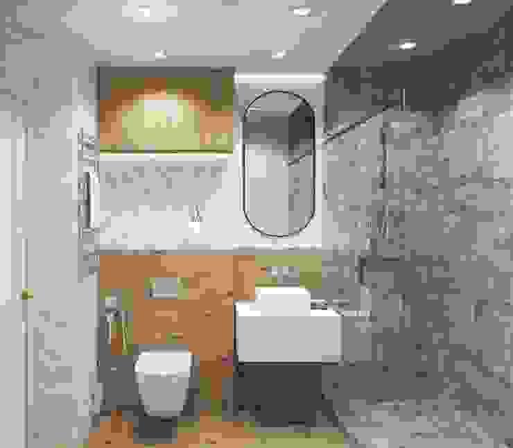 Однокомнатная квартира в скандинавском стиле Ванная комната в скандинавском стиле от ARTWAY центр профессиональных дизайнеров и строителей Скандинавский