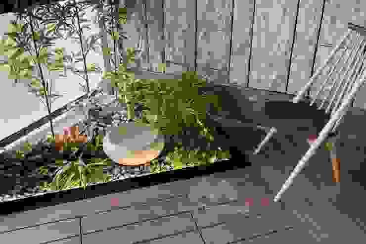 日式造景─陽台塑木平台 新綠境實業有限公司 陽台 塑木複合材料 Wood effect