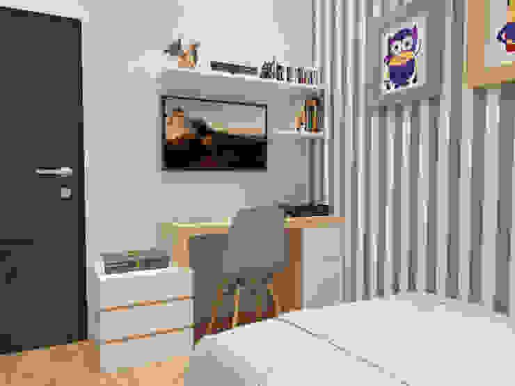 Kamar Tidur Anak 1 (Perspektif lain) Oleh Tatami design