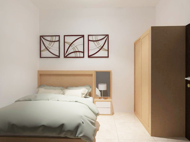 Kamar Tidur Lantai 2 (Perspektif Lain) Oleh Tatami design