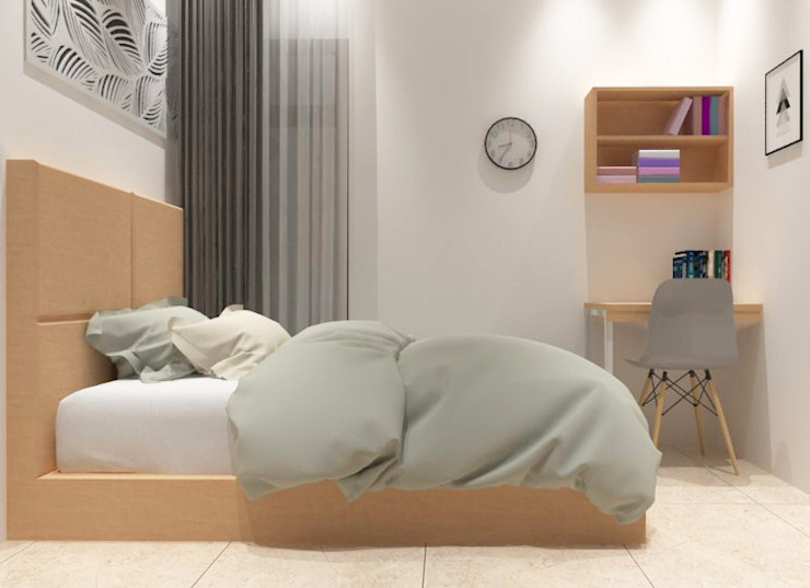 Kamar Tidur Tamu Lantai 1 Oleh Tatami design