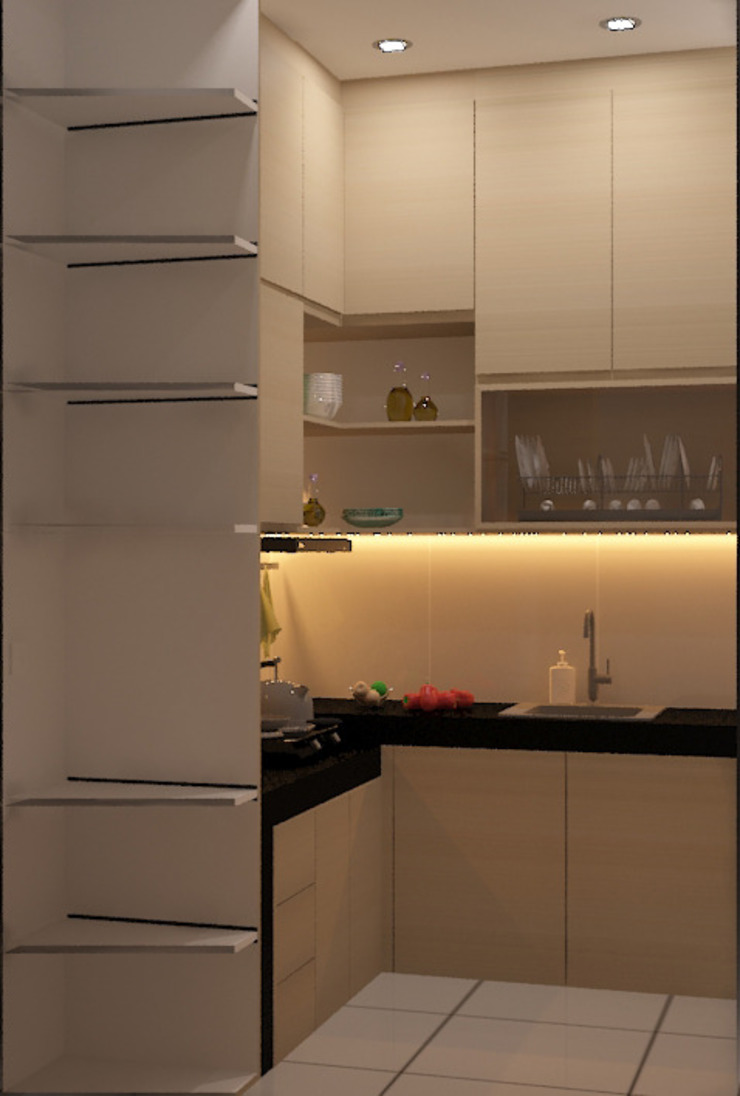 Design awal kitchen Oleh Tatami design