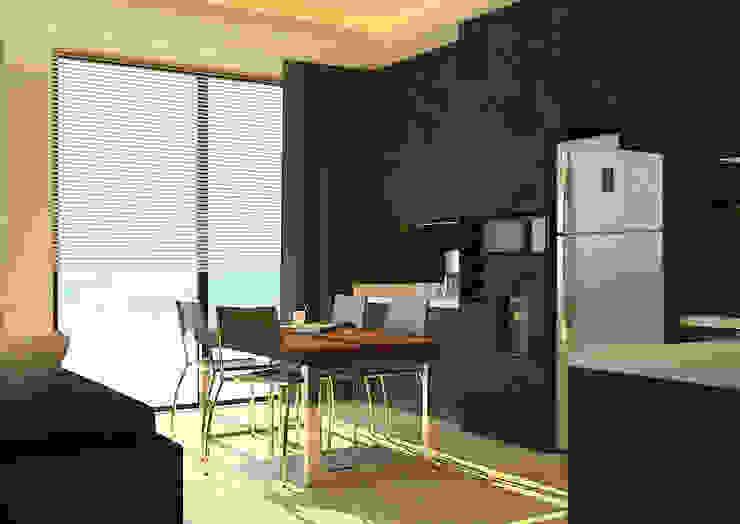 Apartment Room by Ruang Sketsa Oleh Tatami design