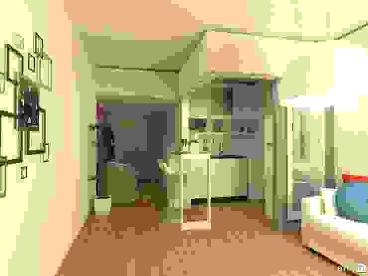 Monoambiente - Recoleta Cocinas modernas de Arquimundo 3g - Diseño de Interiores - Ciudad de Buenos Aires Moderno