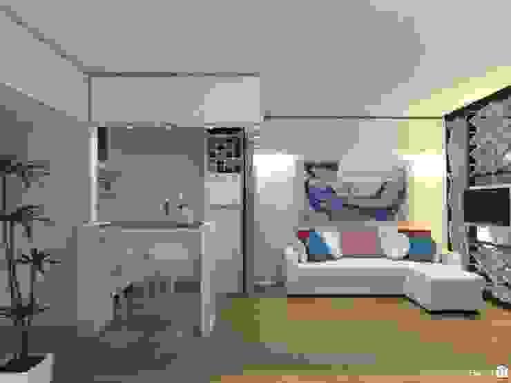 Monoambiente - Recoleta Salones modernos de Arquimundo 3g - Diseño de Interiores - Ciudad de Buenos Aires Moderno