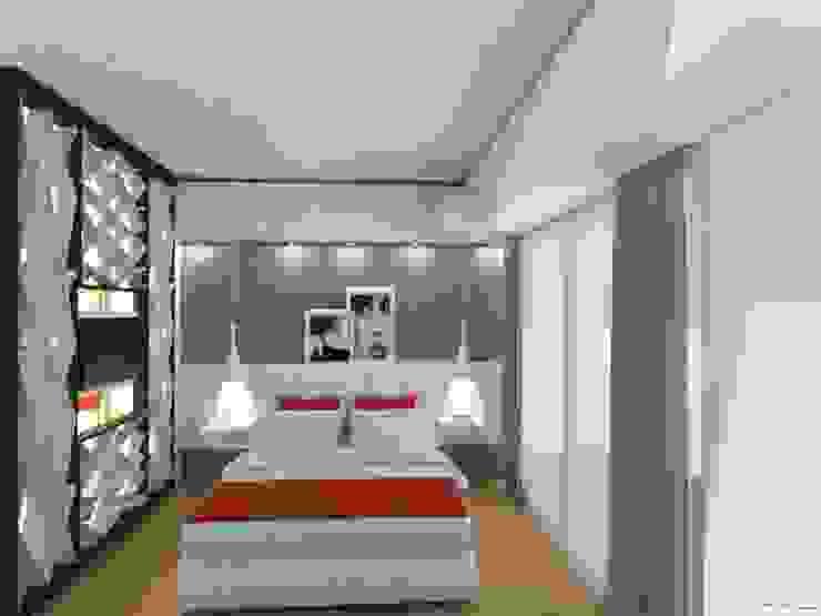 Monoambiente - Recoleta Dormitorios modernos de Arquimundo 3g - Diseño de Interiores - Ciudad de Buenos Aires Moderno