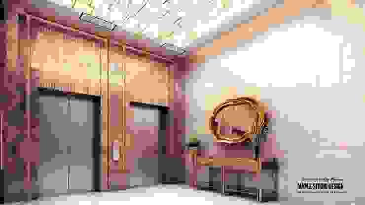 maple design studio Pasillos, vestíbulos y escaleras de estilo ecléctico