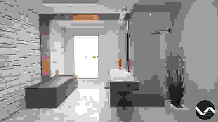 Diseño de Interior para Baño Estilo Minimalista Baños de estilo minimalista de Vision Arquitectura Estudio Minimalista Mármol