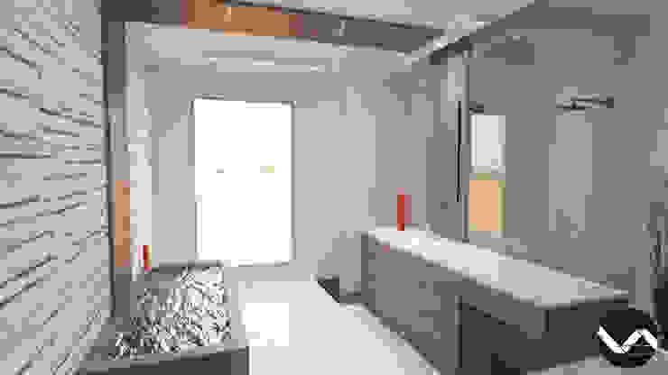 Diseño de Interior para Baño Estilo Minimalista Vision Arquitectura Estudio Baños de estilo minimalista Mármol Acabado en madera
