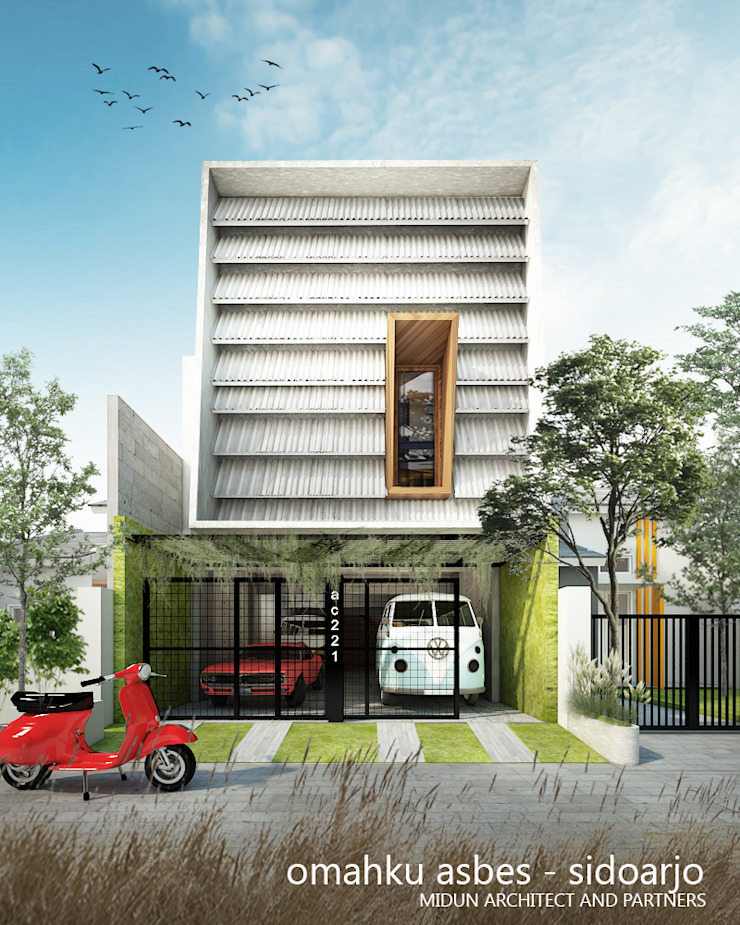 rumah asbes Rumah Modern Oleh midun and partners architect Modern