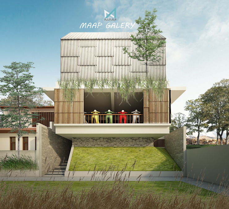 darsono antik house Rumah Gaya Industrial Oleh midun and partners architect Industrial