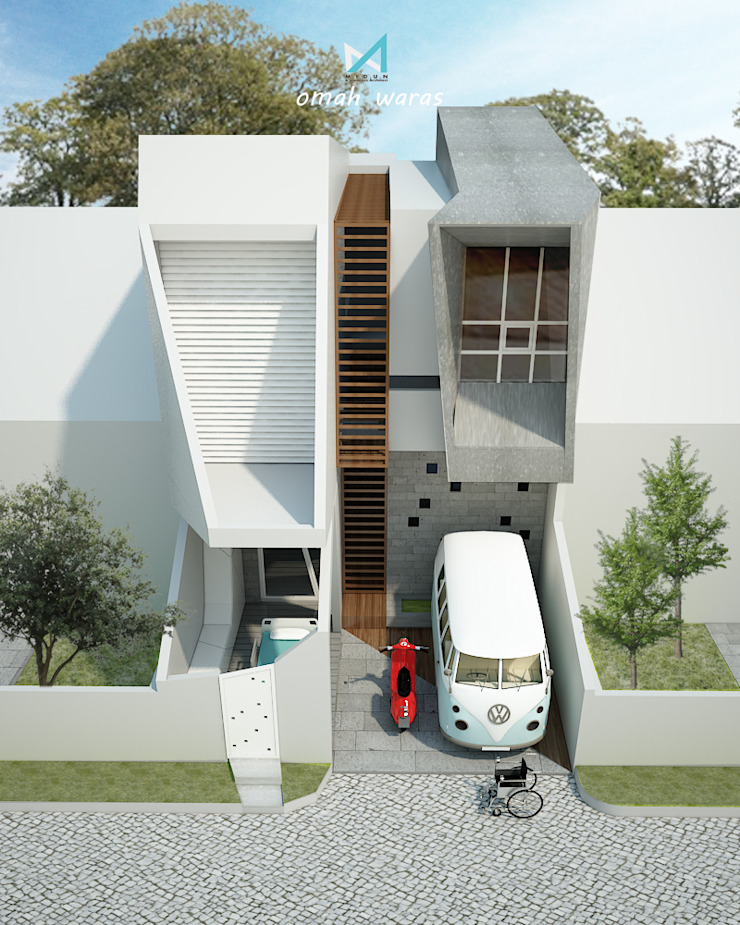 omah waras part 1 Rumah Modern Oleh midun and partners architect Modern
