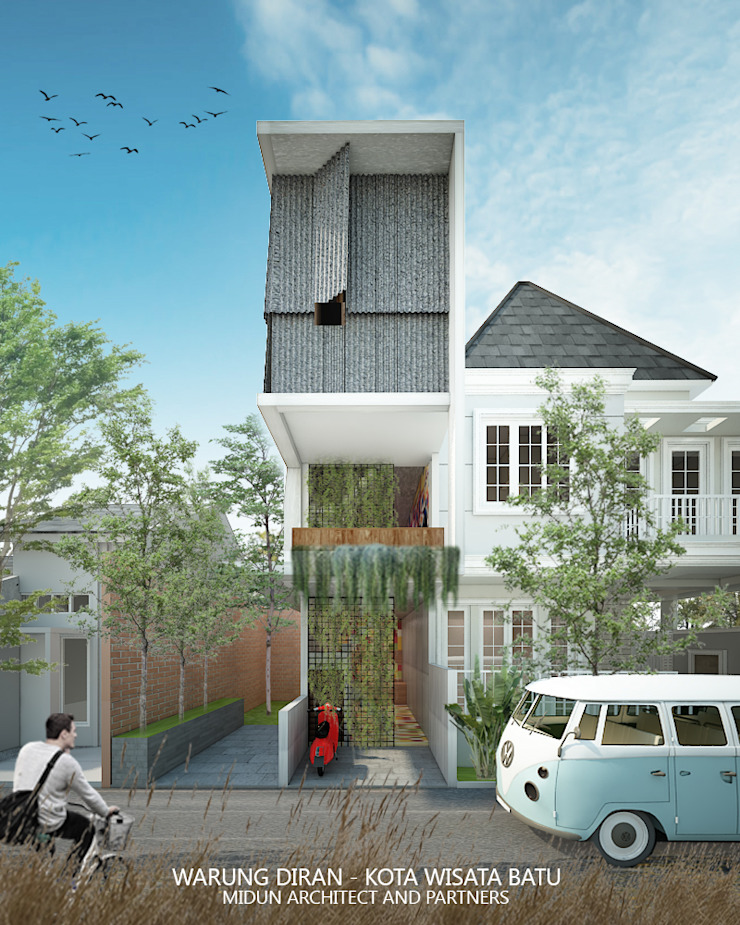 diran cafe Rumah Gaya Industrial Oleh midun and partners architect Industrial