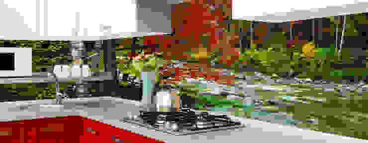Tezgah Arası Cam Panel Uygulaması by Öztaş Yapı Dekorasyon - Cam mutfak