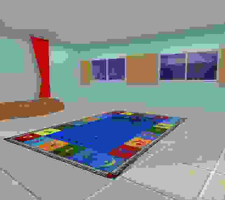 Desain awal 3D Bangunan Kantor Minimalis Oleh Tatami design Minimalis