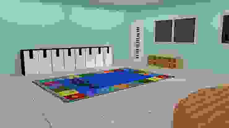 Desain awal 3D 2 Bangunan Kantor Minimalis Oleh Tatami design Minimalis