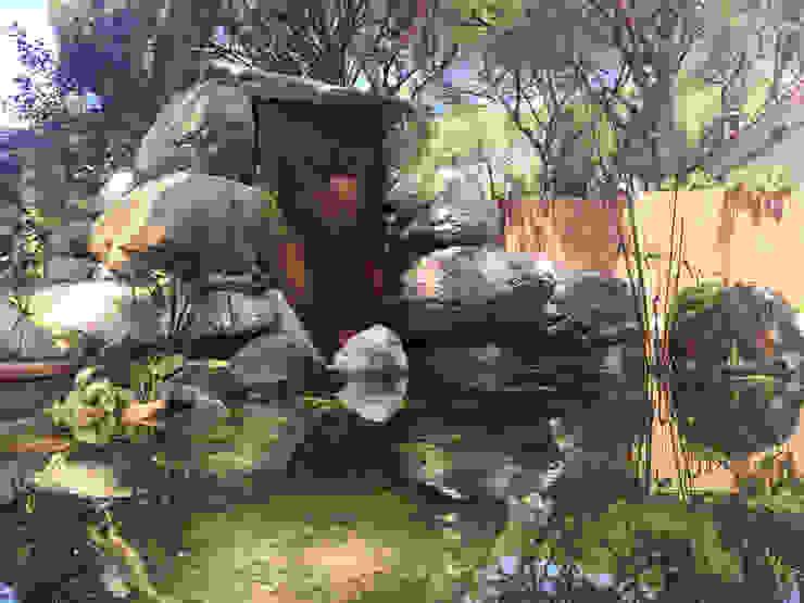 Detalle del estanque Nosaltres Toquem Fusta S.L. Jardines de estilo tropical