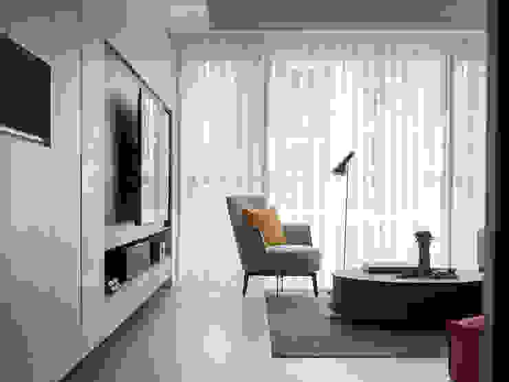 【靜】– 陳宅 六木設計 现代客厅設計點子、靈感 & 圖片
