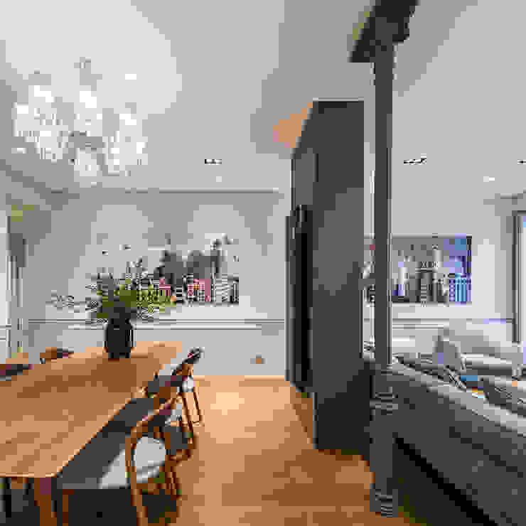 Salas de estilo clásico de AGi architects arquitectos y diseñadores en Madrid Clásico
