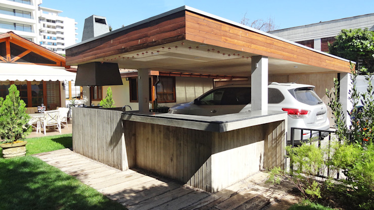 Garage/shed by m2 estudio arquitectos - Santiago,
