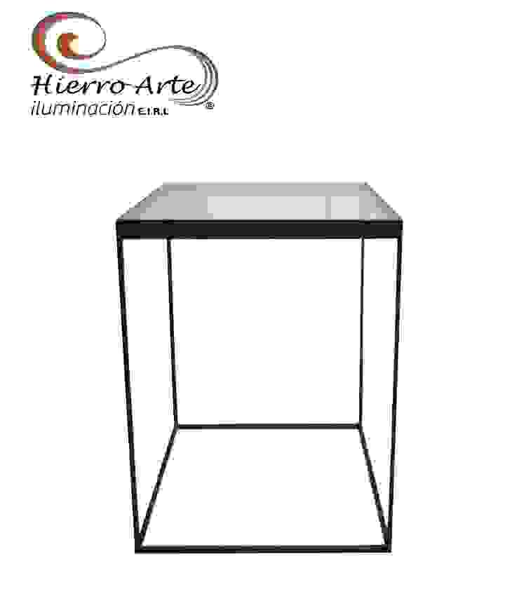 Mesa auxiliar cúbica rectangular ME0025 de 50*45*55 :  de estilo industrial por Hierro Arte Iluminación EIRL, Industrial Hierro/Acero