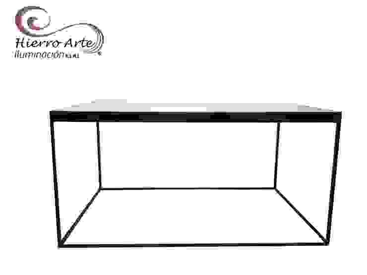 Mesa de centro cúbica rectangular ME0026 de 80*50*40:  de estilo industrial por Hierro Arte Iluminación EIRL, Industrial Hierro/Acero