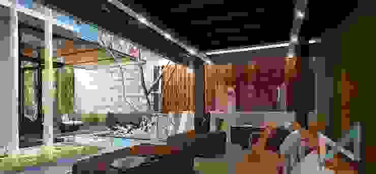 art bsd house Ruang Keluarga Modern Oleh midun and partners architect Modern