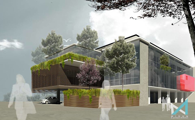 MAKASAR OFFICE Kantor & Toko Tropis Oleh midun and partners architect Tropis
