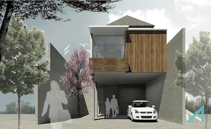 BA'I HOUSE Rumah Minimalis Oleh midun and partners architect Minimalis