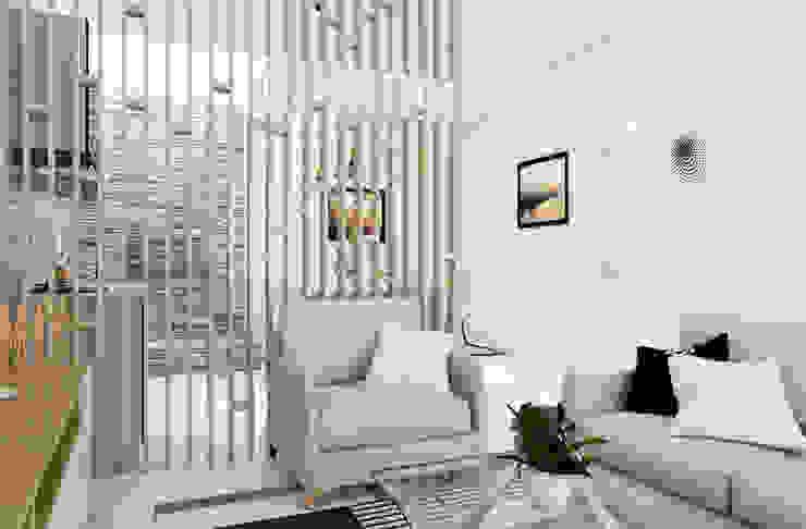 现代客厅設計點子、靈感 & 圖片 根據 PT. Leeyaqat Karya Pratama 現代風