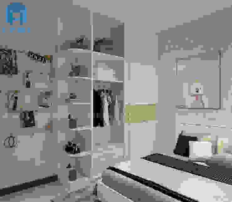 tủ quần áo Phòng ngủ phong cách hiện đại bởi Công ty TNHH Nội Thất Mạnh Hệ Hiện đại MDF