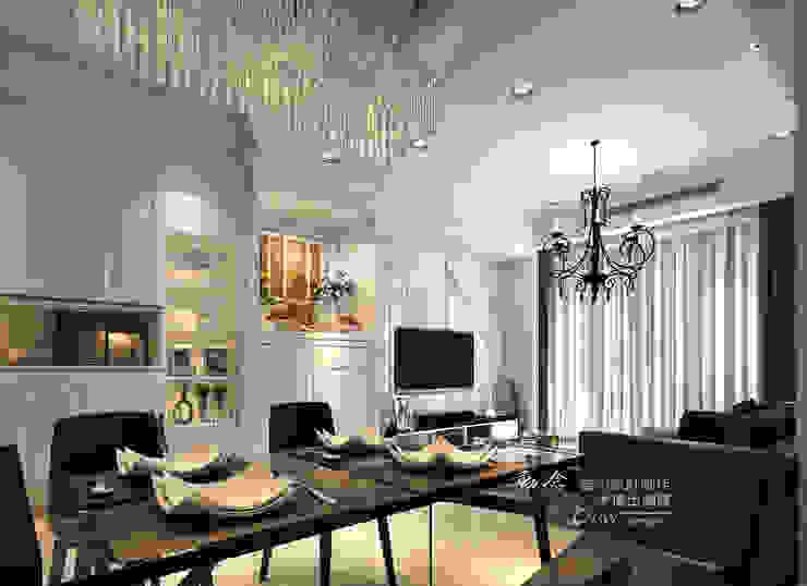 系統現代神龕 木博士團隊/動念室內設計制作 客廳 玻璃 White