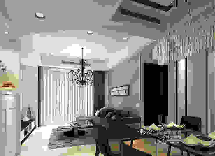 灰色沙發背牆 木博士團隊/動念室內設計制作 客廳 玻璃 Grey