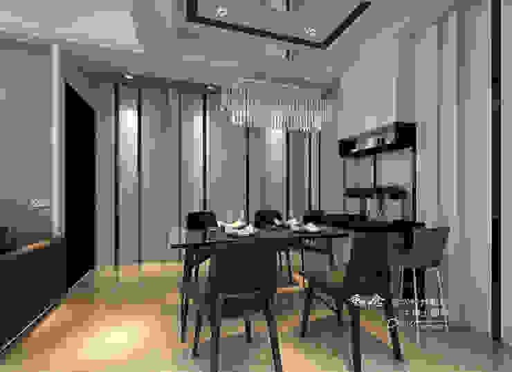 餐廳 木博士團隊/動念室內設計制作 餐廳 玻璃 Grey