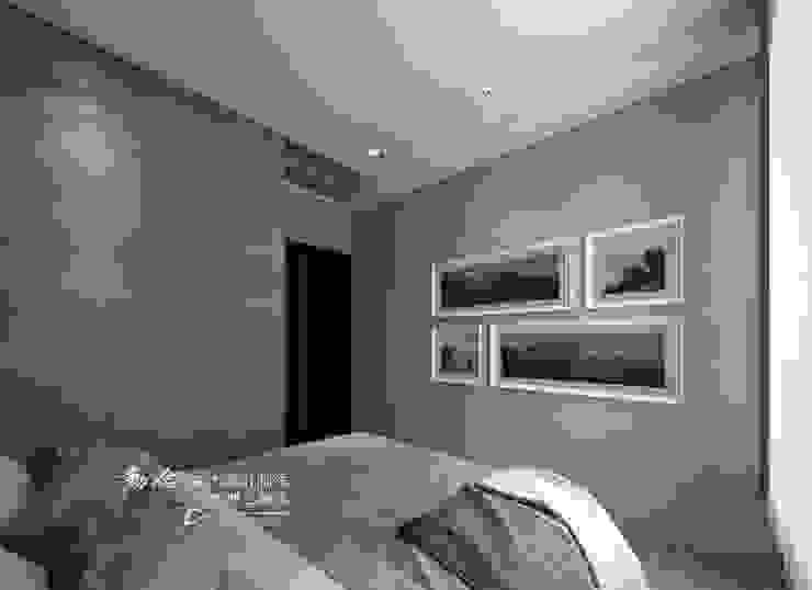 次臥 木博士團隊/動念室內設計制作 臥室 複合木地板 Grey