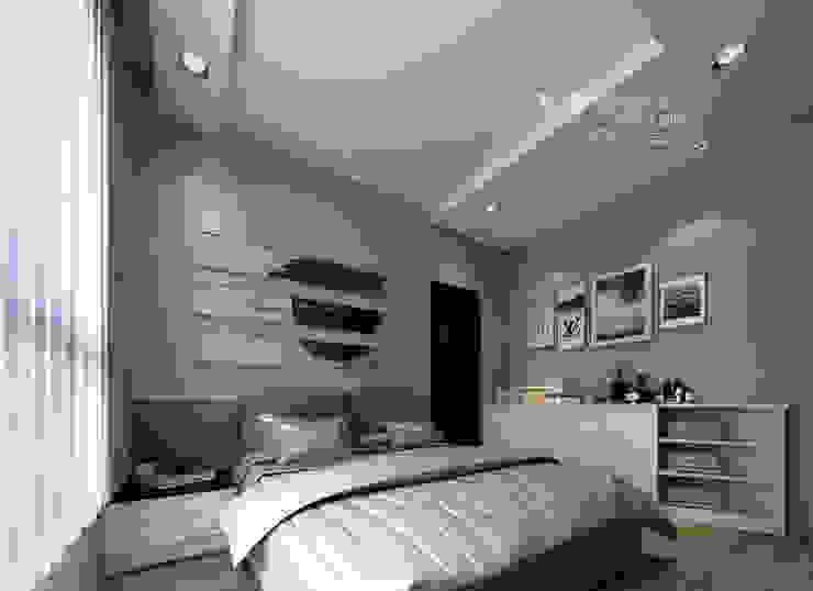主臥 木博士團隊/動念室內設計制作 臥室 複合木地板 Grey