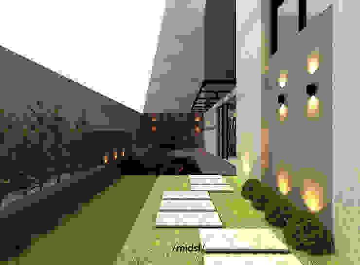 Terrace Balkon, Beranda & Teras Modern Oleh M I D S T Interiors Modern Batu