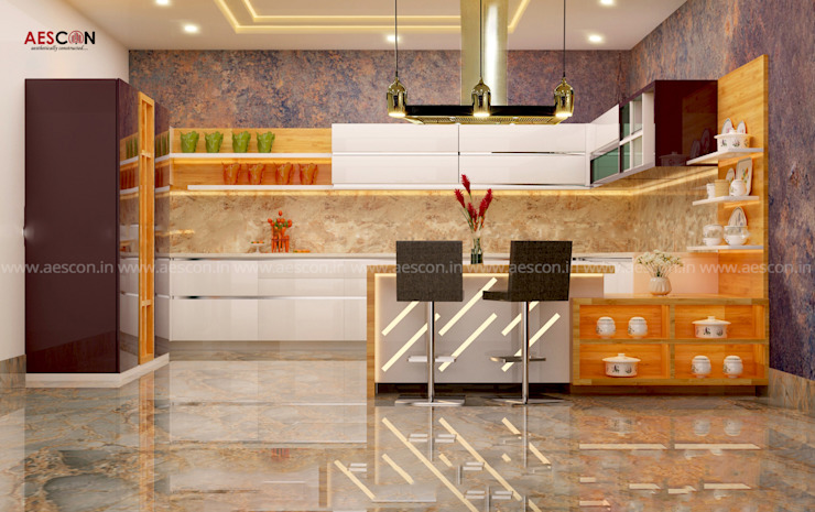 Architects in Kochi Aescon Builders and Architects Kitchen