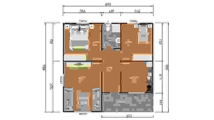 80 m² Süper Kampanyalı 3+1 Prefabrik Ev İdeal Ev (Prefabrik Evim) Modern Yönlendirilmiş Yonga Levha
