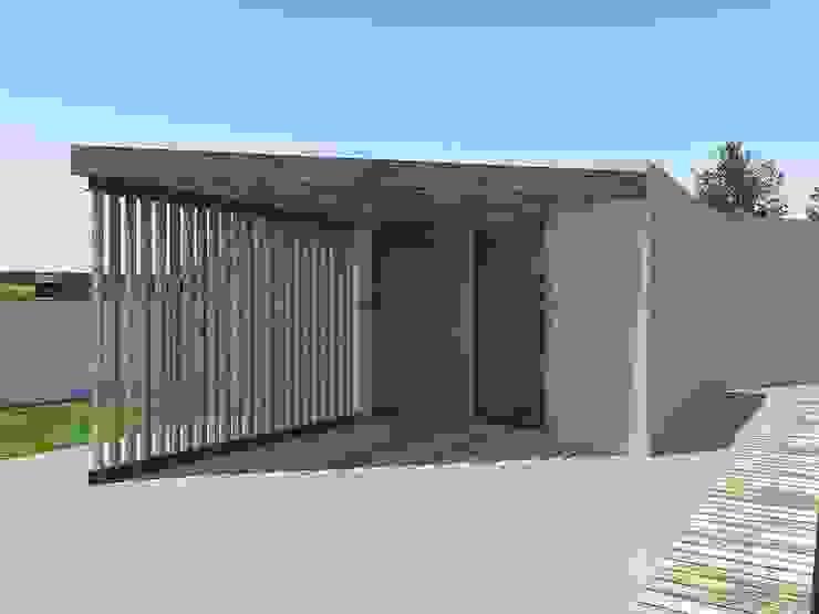Construção em Betão por Arqvoid - Arquitetura e Serviços, Lda. Moderno Alumínio/Zinco