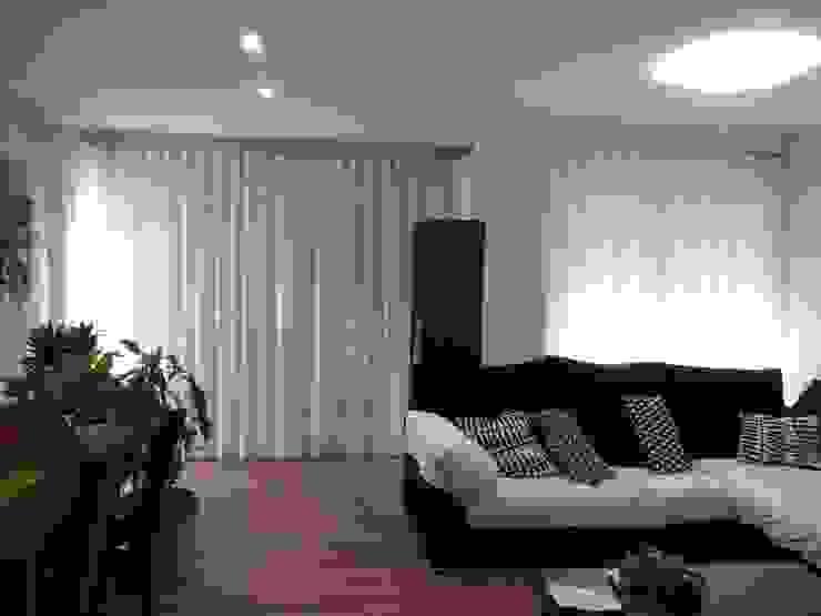 Confección onda perfecta de Navarro valera cortinas y hogar Moderno Lino Rosa