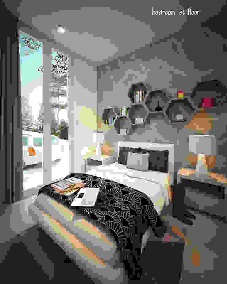CH HOUSE Kamar Tidur Modern Oleh midun and partners architect Modern