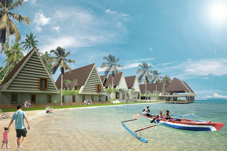 REHOSULAT NUSA BATUTU RESORT HOTEL Hotel Tropis Oleh midun and partners architect Tropis