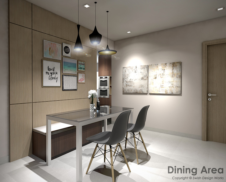 Bedok South Ave 2 Modern dining room by Swish Design Works Modern