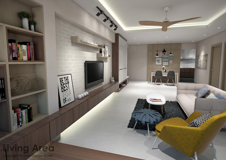 Bedok South Ave 2 Modern living room by Swish Design Works Modern